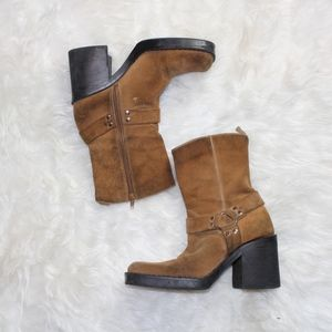 VTG 1990s Chunky Grunge Leather Boots